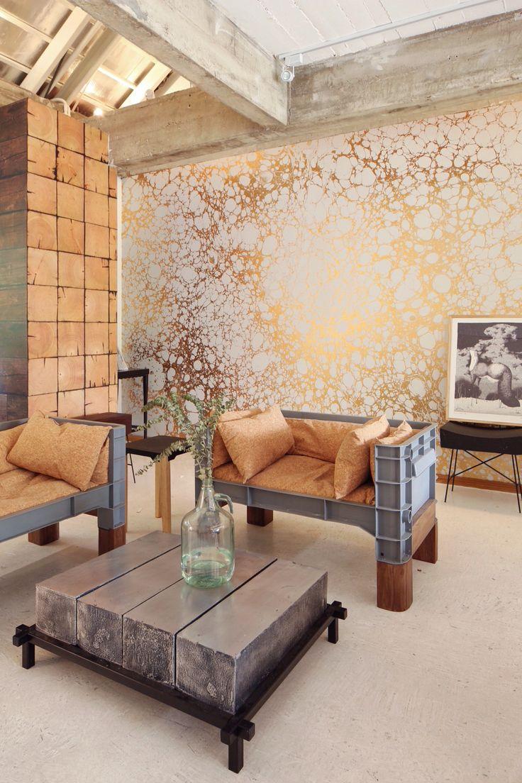 Pinpina Show Room - Wabi 1 - Calico Wallpaper