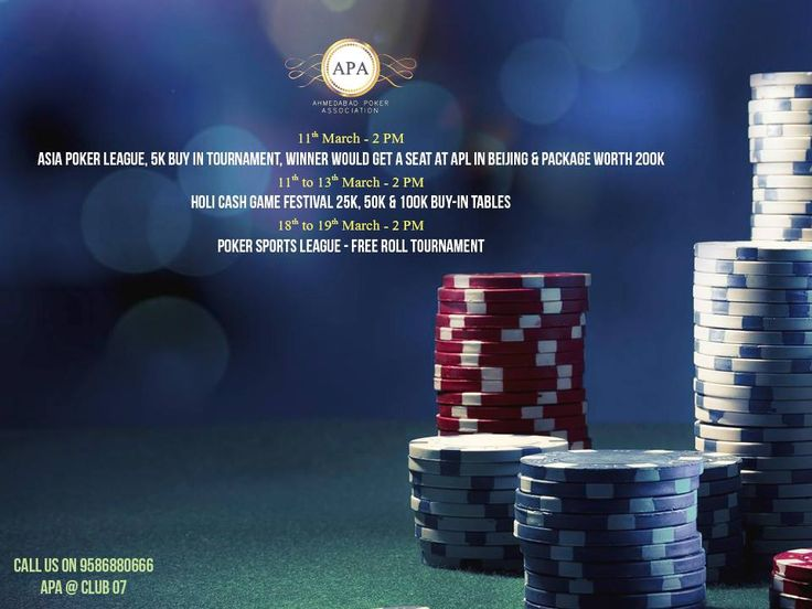 Turn the Poker Mood On! Book Your Table at #APA this Holi! Add: Ahmedabad Poker Association, Club 07, near sky city, off SP ring road, shela, Ahmedabad. Contact: 9586880666 #Games #AhmedabadPokerAssociation #CityShorAhmedabad