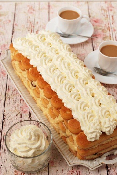 Babapiskóta-torta recept