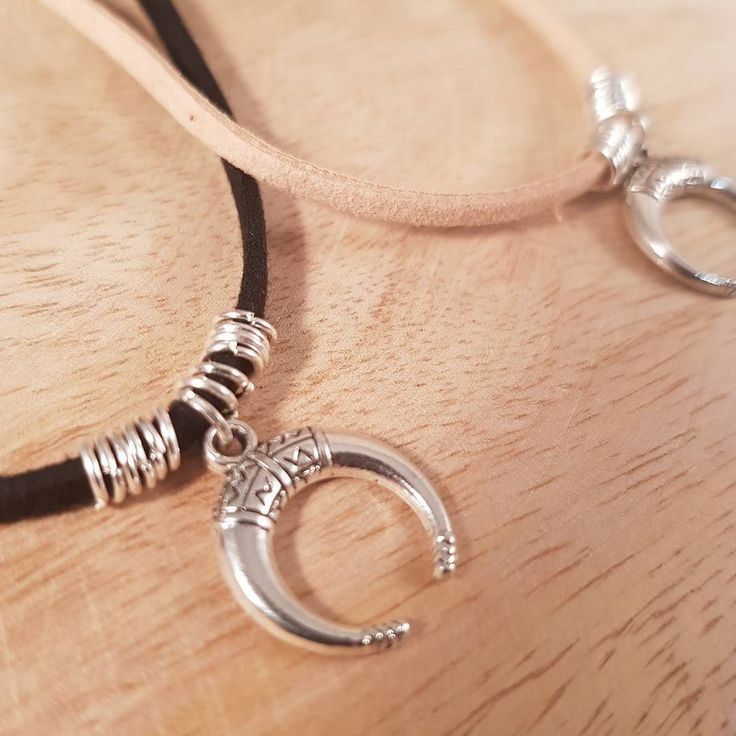 Part of my suede pendant charm  necklace collection! Super light silver double-horn charms you can wear all day  #bohostyle #bohochic #summerstyle #festivalfashion #handmadejewelry #handmade #shopsmall #etsyshop