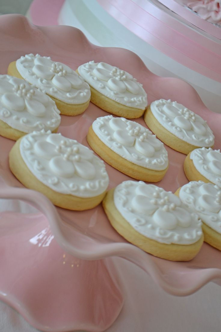 White cherry blossom sugar cookies - pretty for a wedding or bridal shower. Cookies by Bake Sale Toronto.