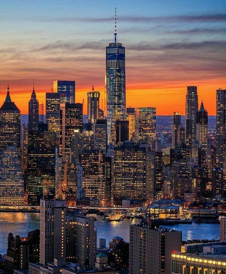 Manhattan To New York City: Manhattan Skyline, New York