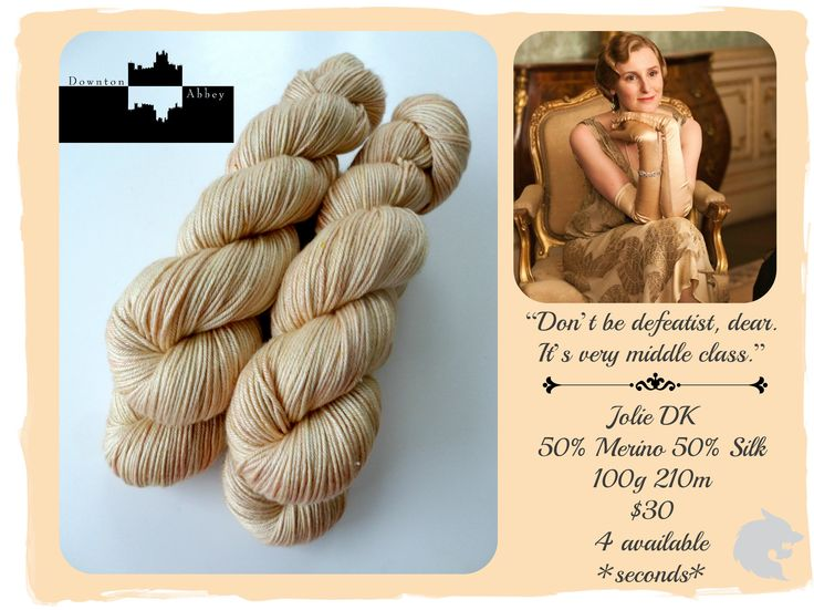 Don't be defeatist dear, it's very middle class - Downton Abbey Upstairs / Red Riding Hood Yarns