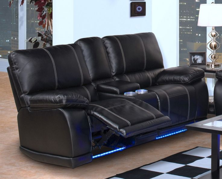 Black Leather Recliner Sofa Leather Reclining Sofa