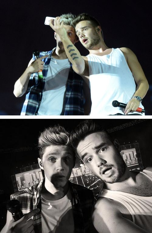 Okay. Niall is amazing at taking selfies, Liam is amazing at taking selfies. 2GOOD PEOPLW TAKING SELFIES! STOP!