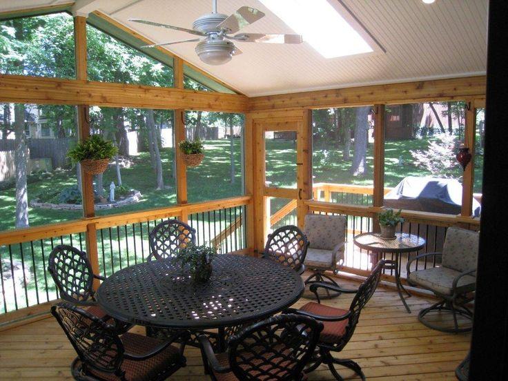 screened in porch interior ideas google search - Screened Patio Designs