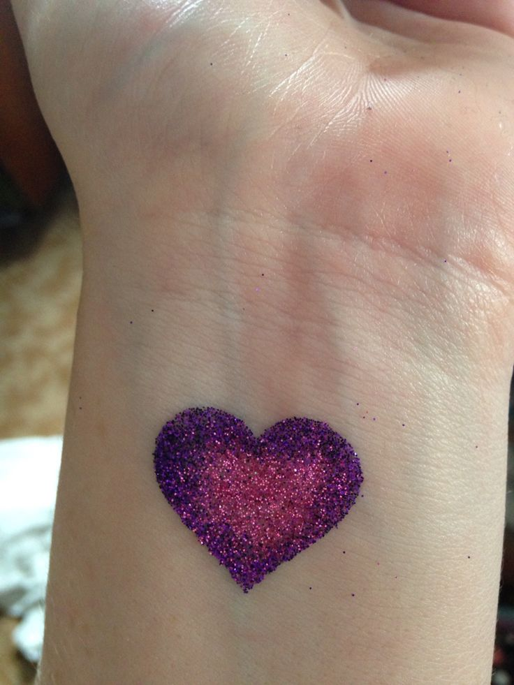 Heart glitter tattoo
