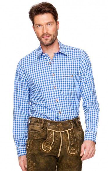 Oktoberfest chequered shirt Rufus azure
