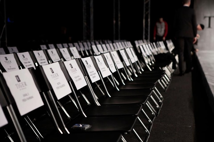 The seats - Before the show.   Behind the Scenes of Fashion show AW 2012