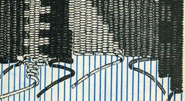 vertical and diagonal lines  http://pinterest.com/obeseparrot/spinning-weaving/