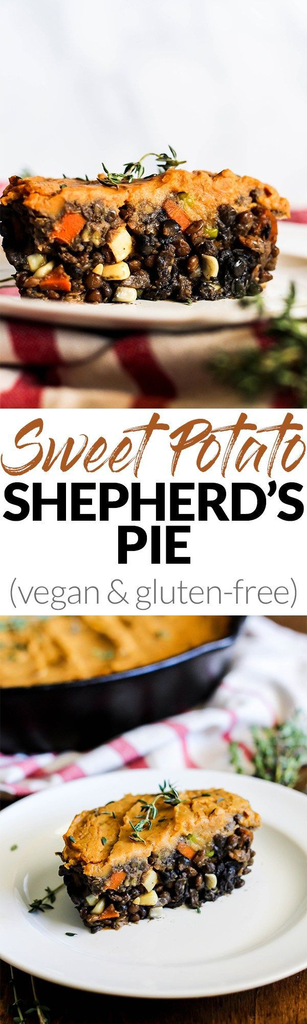 Say hello to your new favorite comfort food recipe: Vegan Sweet Potato Shepherd's Pie! Filled with lentils, vegetables & sweet potatoes for a hearty dinner. (gluten-free) @pompeian #TrendingintheKitchen #ad
