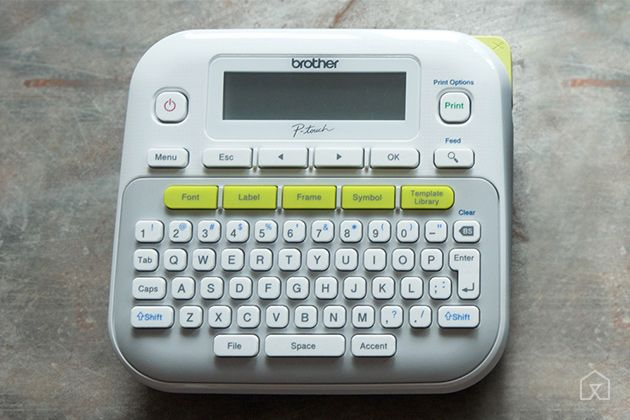 The Best Label Maker | The Brother P-Touch PT-D210 has an intuitive keyboard layout, slightly better label quality, and affordable replacement cartridges.