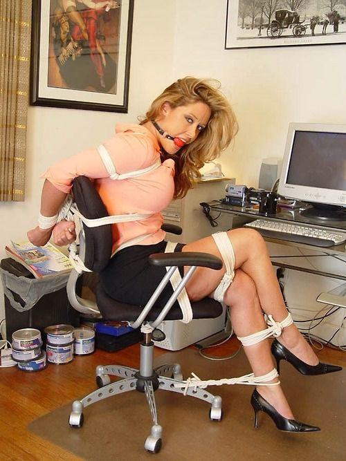 woman in hardcre bondage