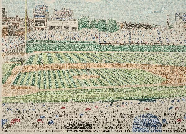 Wrigley Field - Cubs All Time Roster from Art of Words