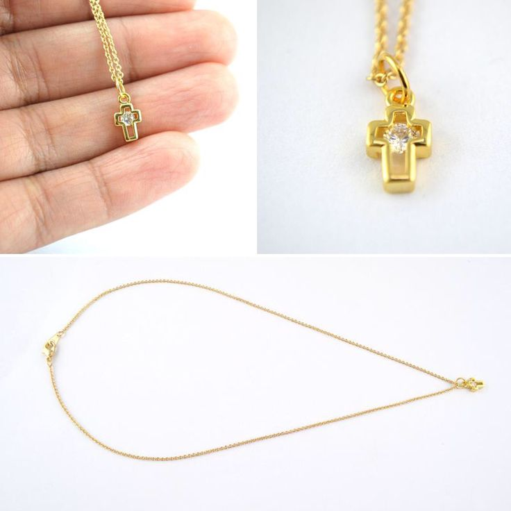 Dainty Cross Jewellery! Available at HKS Jewellery