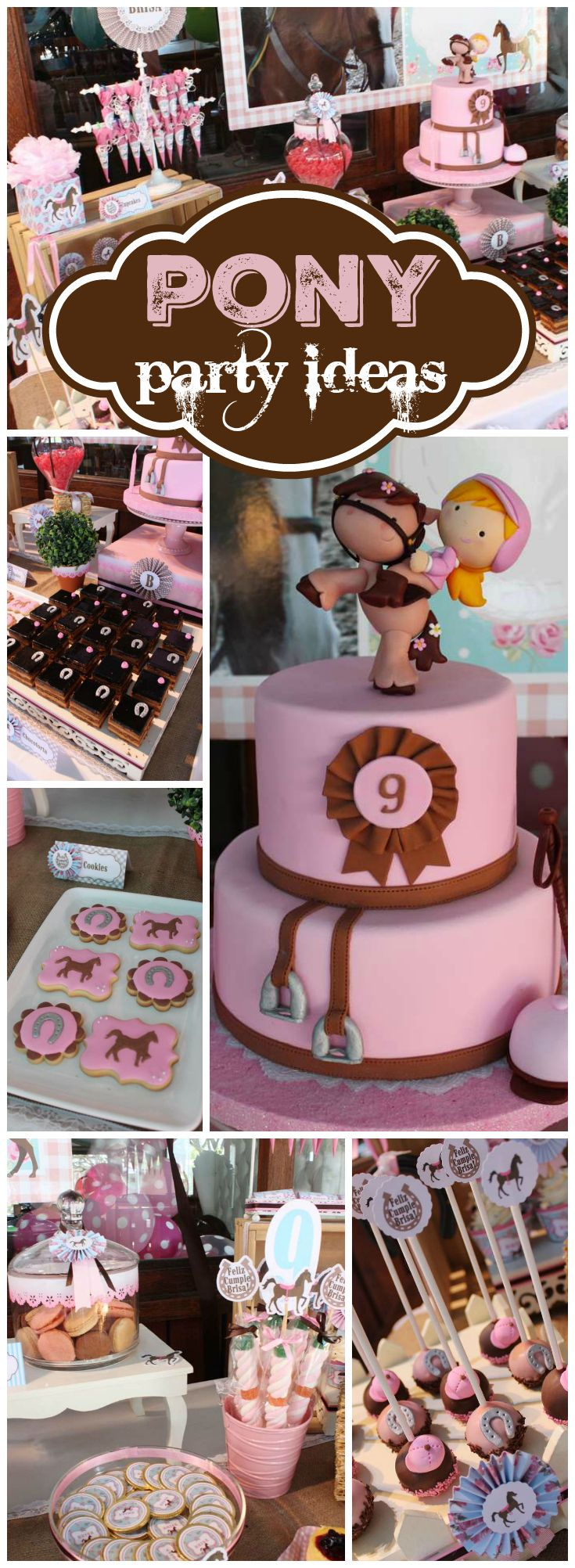 What a fantastic pink and brown horse party!  See more party ideas at CatchMyParty.com!
