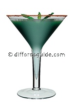 Flying Grasshopper cocktail recipe - from diffordsguide the world's best cocktail database