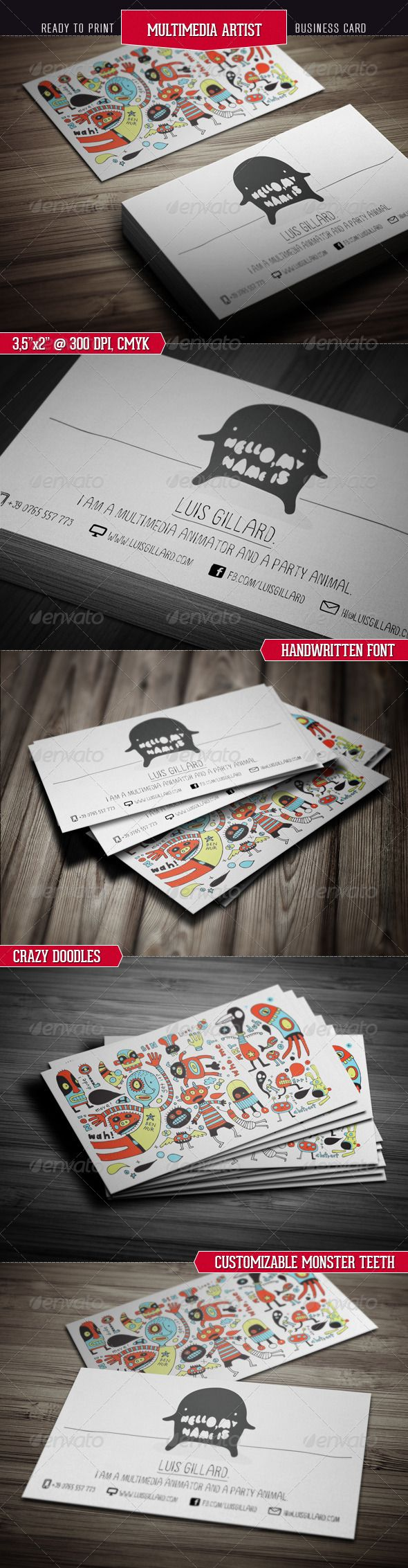 Multimedia Artist Business Card - GraphicRiver Item for Sale