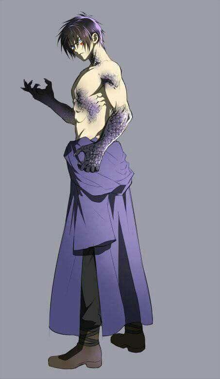 Hak as the Dark or Shadow Dragon