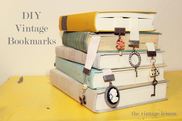 DIY vintage bookmarks