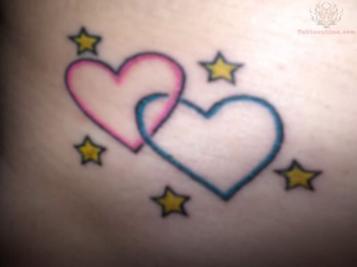 3 Hearts Intertwined Tattoo