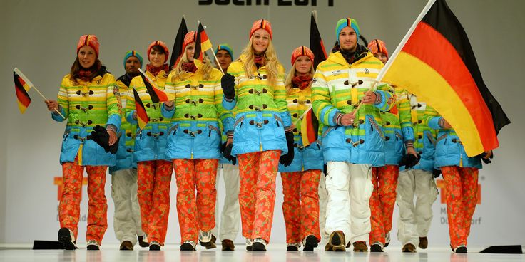 Is Germany Hoping To Send Russia A Pro-Gay Message With These Olympic Uniforms? A walking rainbow flag, must be a coincidence