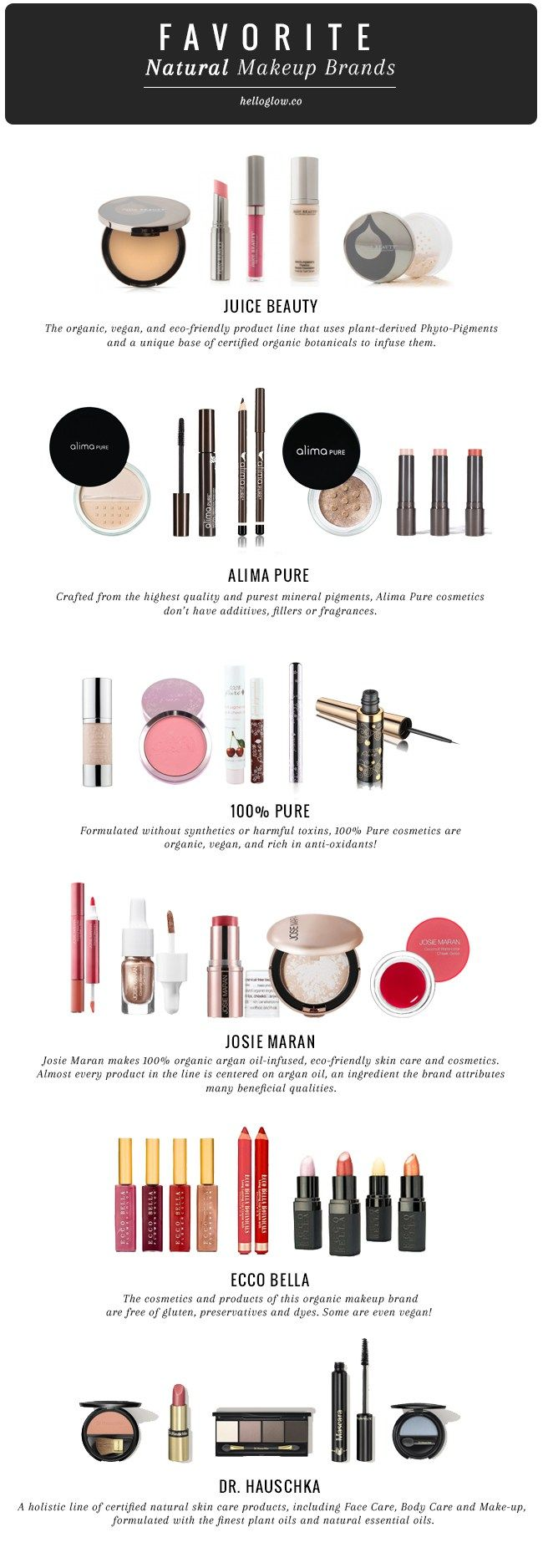 9 Favorite Natural Makeup Brands - the top 3 defiantly seem to be ok for me!