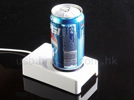 USB-powered drink chiller / warmer keeps beverages happy