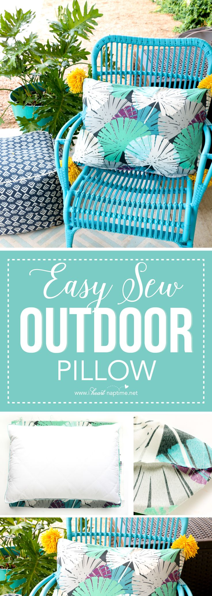 Easy sew outdoor pillow u2013 Learn how