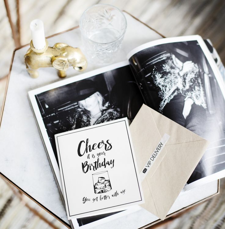 TheGiftLabel: CHEERS it is your BIRTHDAY, You get better with age #Postcard #Party #Drink #VIPDelivery #Amsterdam #Pinterest