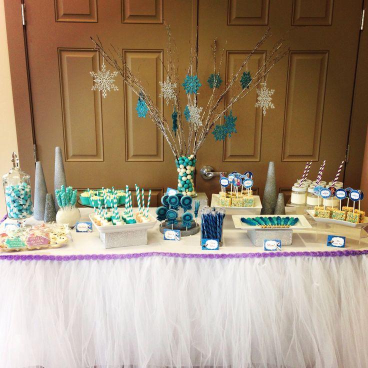 Frozen Candy Table, Tulle Tutu Table Skirt, Disney Frozen
