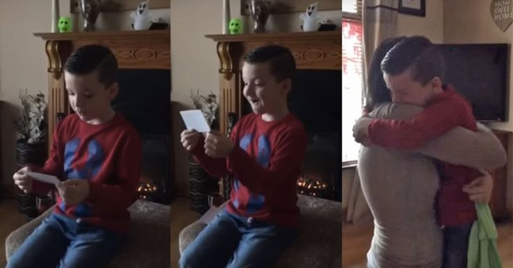 A 6-year-old Irish boy was surprised by his parents with the news that he's going to be a big brother.