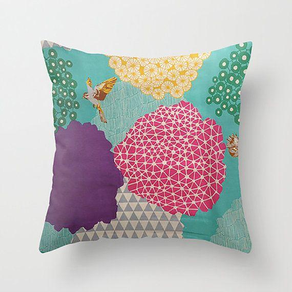 Japanese Geo / Art Decorative Throw Pillow by PillowsByElissa Textiles & Pillows Pinterest ...