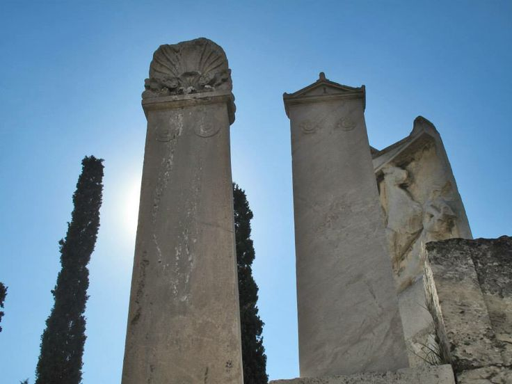 Ancient funerary Steles, Ancient Cemetery of Kerameikos, Athens