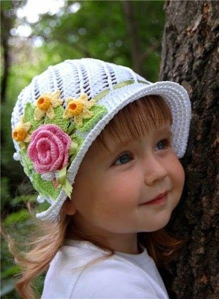 Crochet y dos agujas: Cómo tejer sombreritos crochet paso a paso en vide...