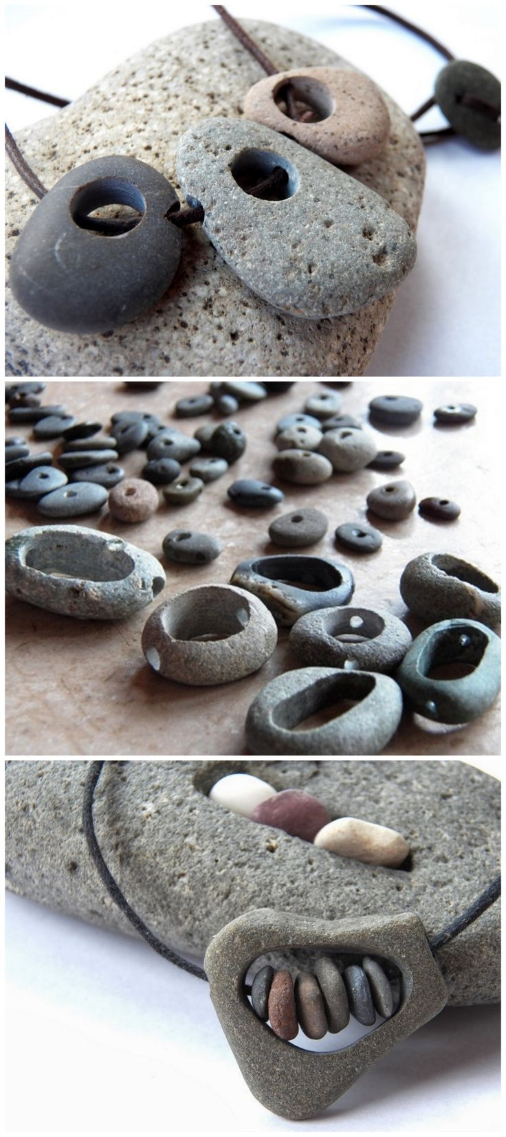DIY Rock JewelryLive in Art has a series of tutorials on how to make drilled hole and hollowed out stone jewelry. • How to Drill Holes through Rocks from Live in Art here. • How to Hollow Out Rocks from Live in Art here. • How to Make Rivets in Rocks...