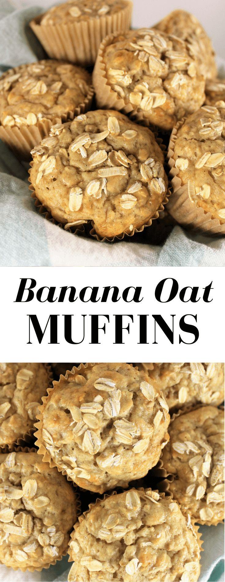 Banana Oat Muffins #bananaoatmuffin #muffin #healthymuffun #breakfast #snack