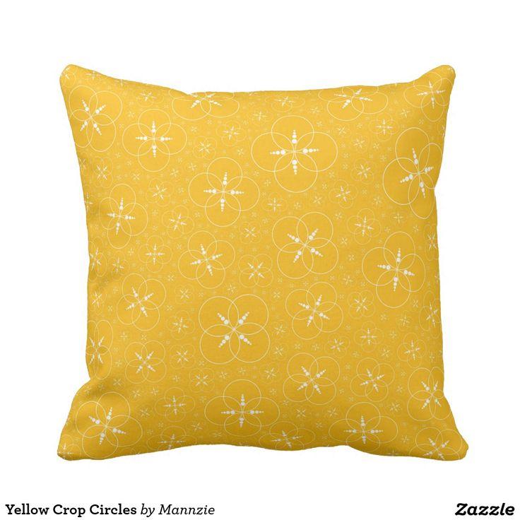 Yellow Crop Circles Pillow