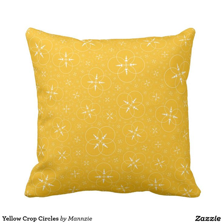 Yellow Crop Circles Pillow