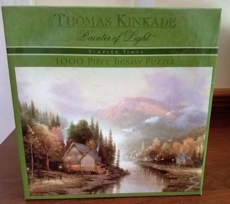"Thomas Kinkade 1000 piece puzzle ""Simpler Times"" new in box"