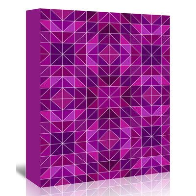 "East Urban Home Purple Symbol Style  Graphic Art on Wrapped Canvas Size: 14"" H x 11"" W x 1.25"" D"