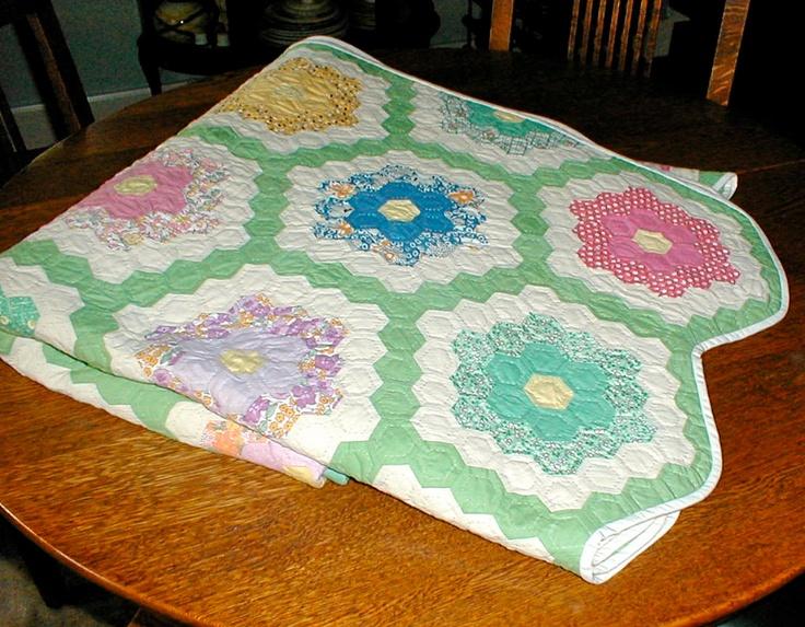Grandmother 39 S Flower Garden Quilt Quilts Pinterest