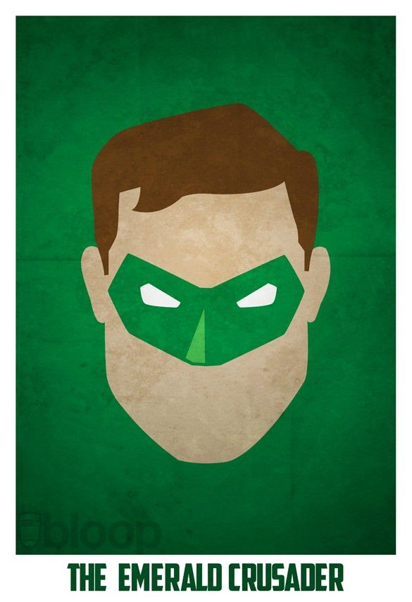 b/c john thought it was getting to girly. you need a whole set of these! SWEET. Minimalist Superhero Posters /// Green Lantern