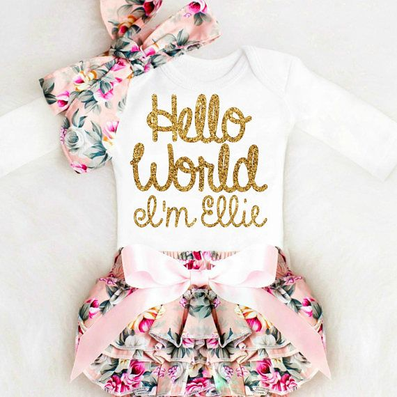 Baby Mädchen Coming Home Outfit Neugeborene Mädchen Take Home Outfit personalisierte Baby Mädchen Kleidung Winter Boho Baby Kleidung   – Baby Room