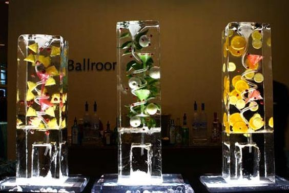 Serve your favorite cocktails in an extraordinary sculptured ice luge. Professional ice sculptor Don Chapelle carves amazing drink luges, fountains, and even ice bars.