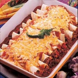 GARLIC BEEF ENCHILADAS RECIPE: Recipe Courtesy of Jennifer Standridge, Dallas, Georgia