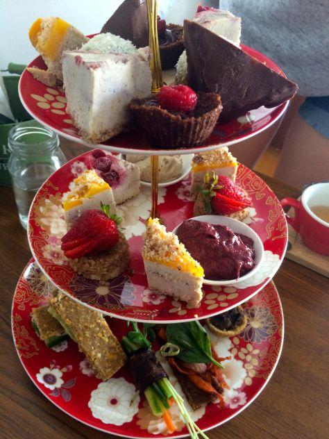 Paleo high tea, Sadhana Kitchen Raw Vegan High Tea, Enmore, Sydney.