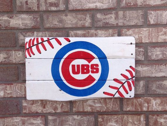 Chicago Cubs baseball stitch wall art on Etsy, $43.00