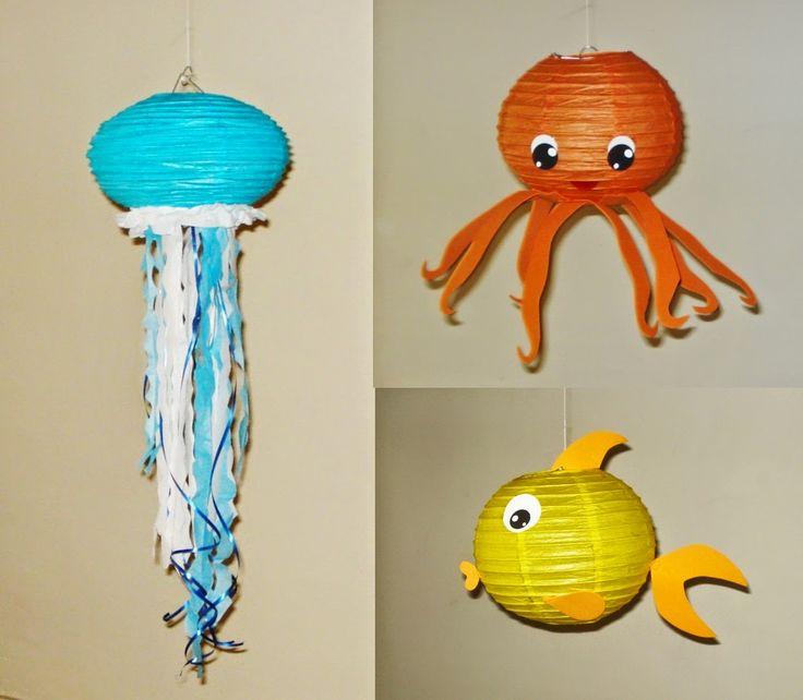 octopus Paper Lantern fish Paper Lantern Jellyfish Paper Lanterns. Mutant Ninja Turtles linterna...