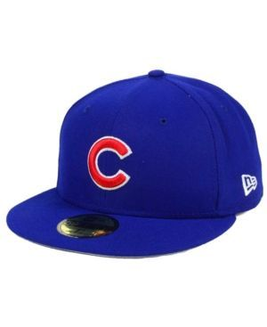 New Era Chicago Cubs Flag Stated Redux 59FIFTY Cap - Blue 7 3/8